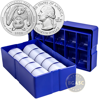 2020 National Park of American Samoa 5 oz Silver America The Beautiful .999 Fine Bullion Coin in Air-Tite Capsule - Image