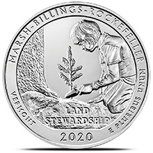 2020 Marsh-Billings-Rockefeller Vermont 5 oz Silver America The Beautiful .999 Fine Bullion Coin in Capsule