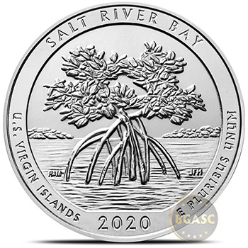2020 Salt River Bay U.S. Virgin Islands 5 oz Silver America The Beautiful .999 Fine Bullion Coin in Capsule