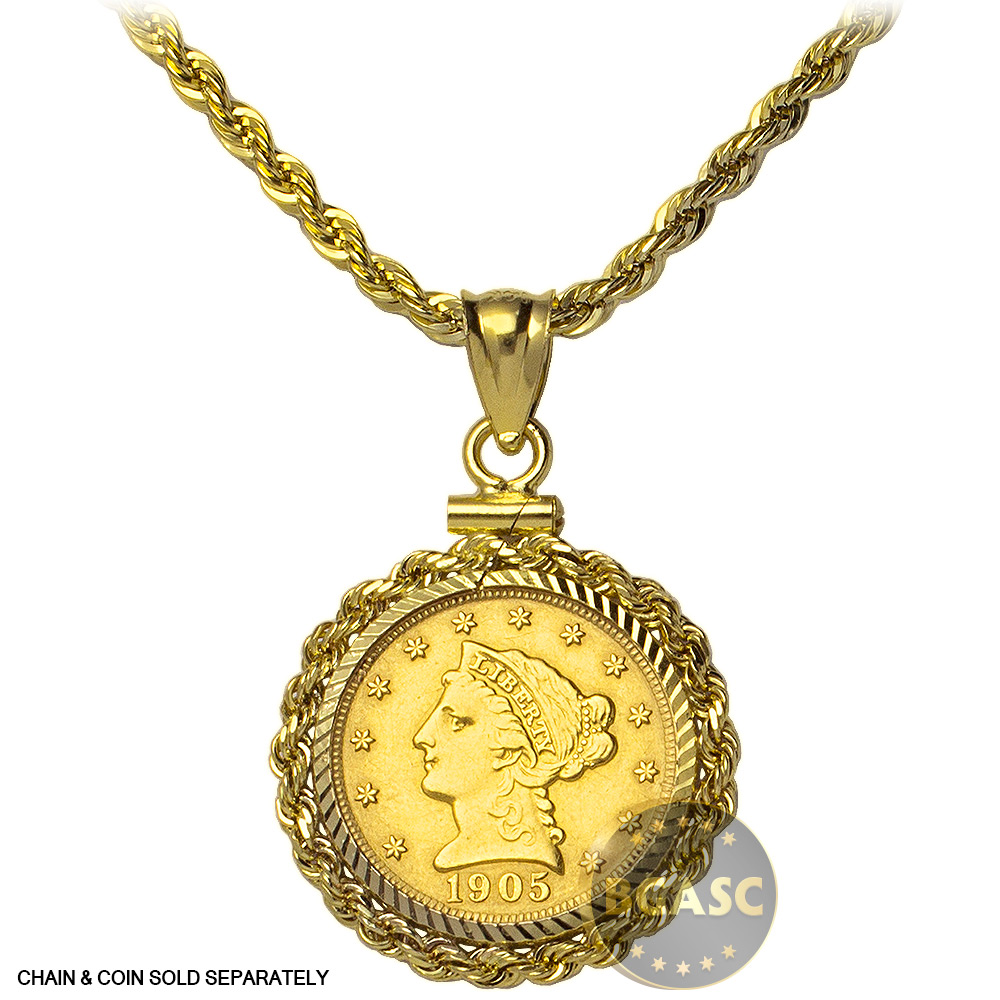 buy solid 14k gold coin bezel pendant 2 5 gold liberty