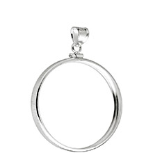 Sterling Silver Coin Bezel Pendant - U.S. Half Dollar (30.6mm) - Classic Coin Edge