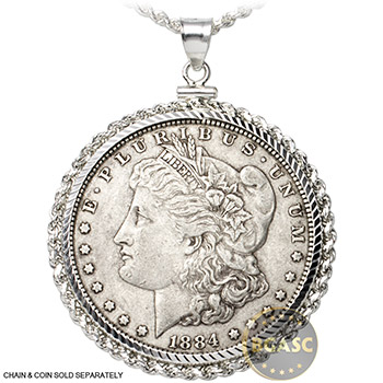 .925 Sterling Silver Coin Bezel Pendant - Image