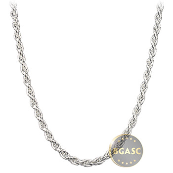 Sterling Silver Rope Chain Necklace 2.5mm - 16, 18, 20, 24