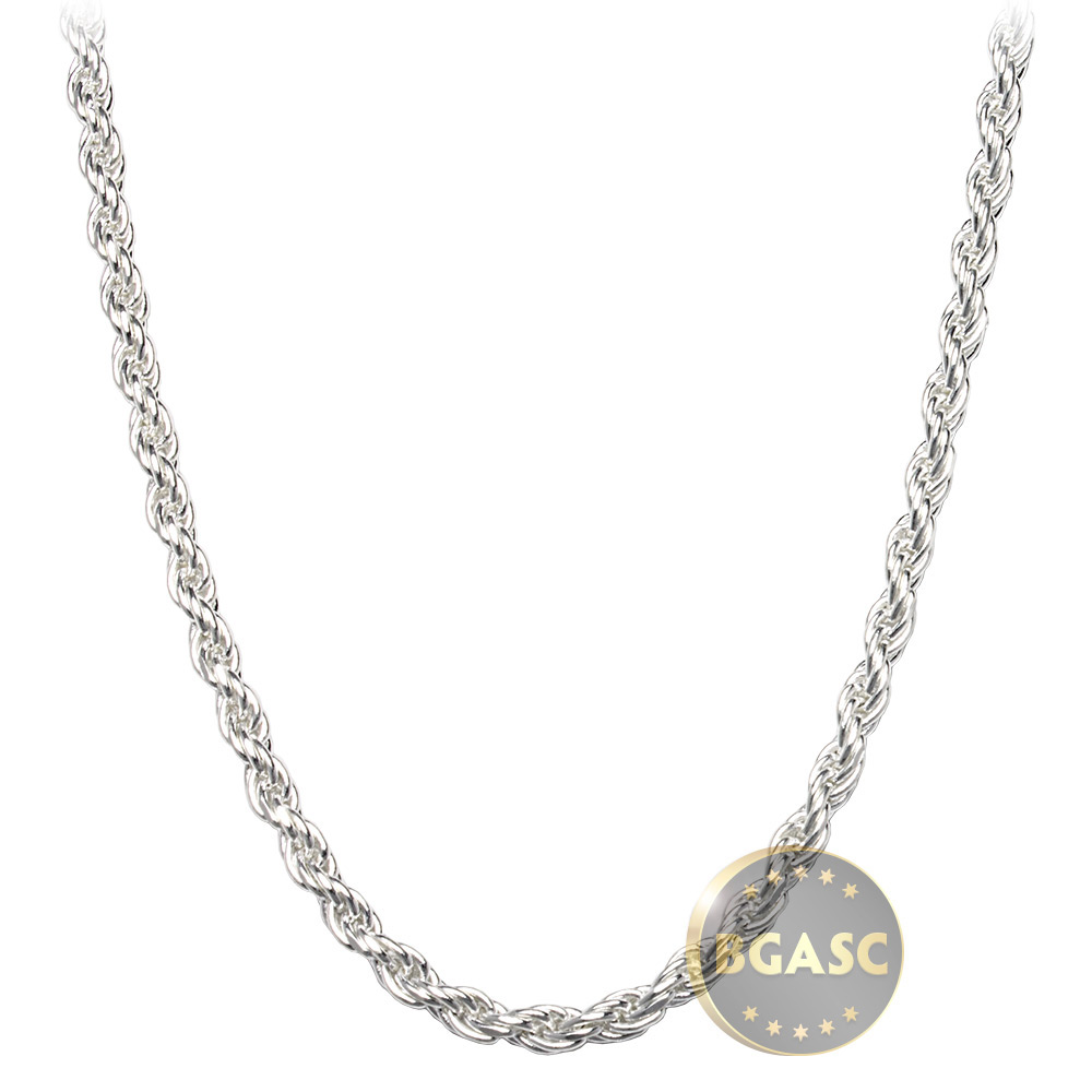 Buy Sterling Silver Rope Chain Necklace 2 5mm 16 18 20