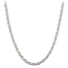 Sterling Silver Rope Chain Necklace 2.5mm - 16