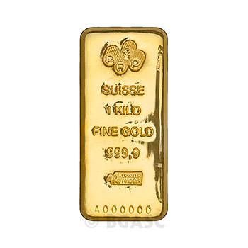1 Kilo Gold Bar Pamp Suisse Cast .9999 Fine 24kt 32.15 Troy Ounces (w/ Assay)