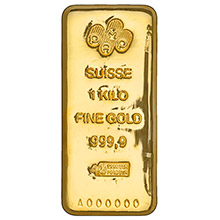 1 Kilo Gold Bar Pamp Suisse Cast .9999 Fine 24kt 32.15 Troy Ounces (w/ Assay)