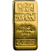 1 Kilo Gold Bar Republic Metals RMC (32.15 troy oz) .9999 Fine 24kt Bullion Ingot (w/ Assay Certificate)