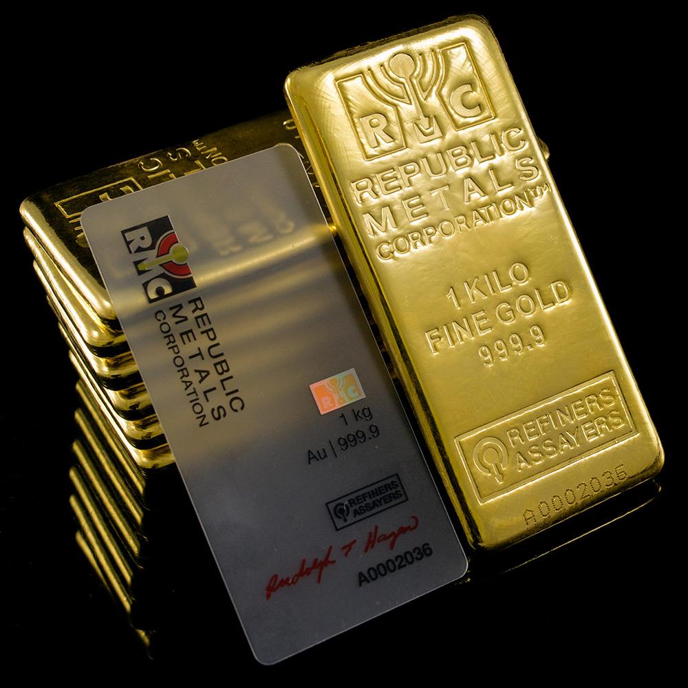 Buy 1 Kilo Gold Bar Republic Metals Rmc 32 15 Troy Oz