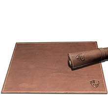 Premium Leather Table Mat - Designed for Metal Dice Gaming or Coin Counting/Stacking - 9 x 12