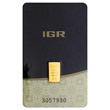 1/2 gram Gold Bar IGR .9999 Fine 24kt (in Assay)