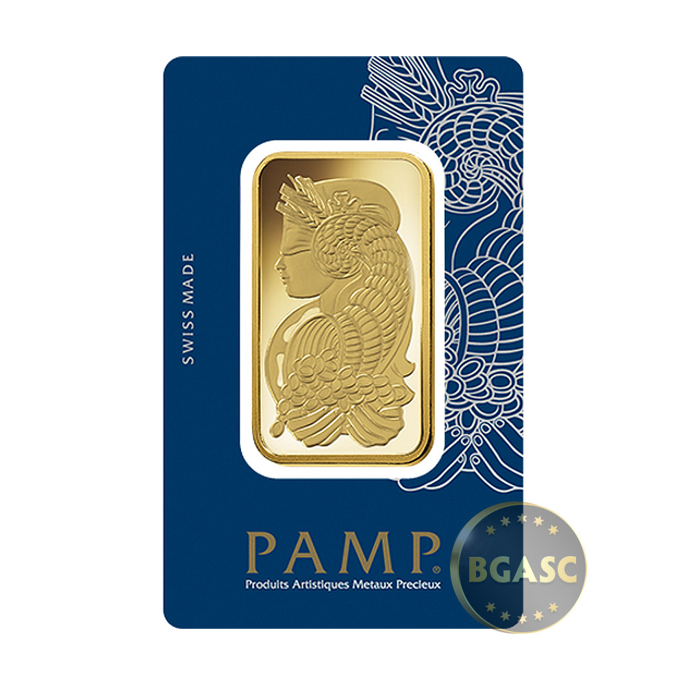 Buy 100 Gram Gold Bar Pamp Suisse Fortuna With Veriscan