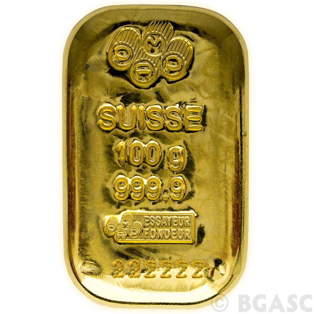 Buy 100 Gram Gold Bar Pamp Suisse Cast 9999 Fine 24kt W