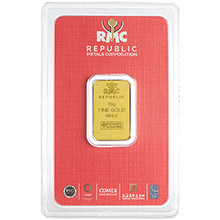 10 gram Gold Bar Republic Metals (RMC) .9999 Fine 24kt (in Assay)