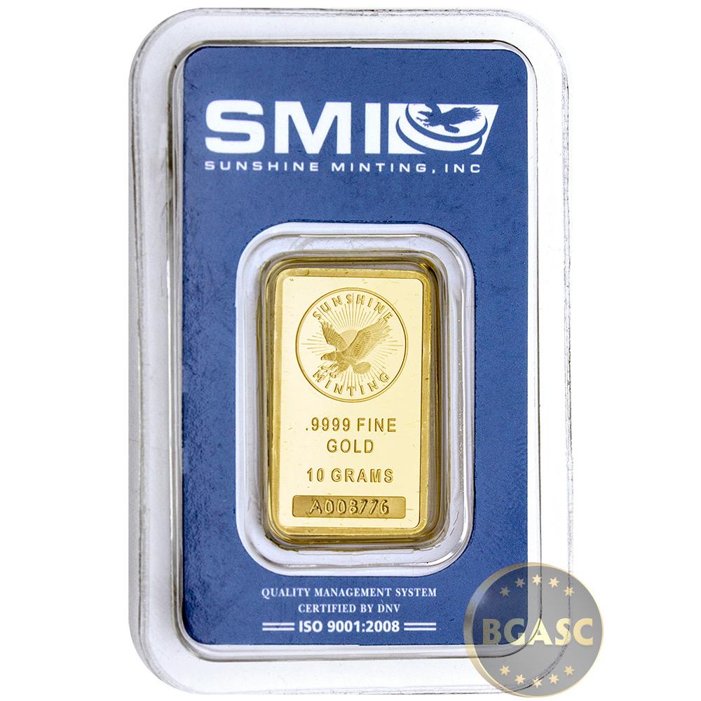 10 Gram Gold Bar Sunshine Minting
