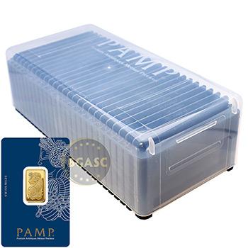 Pamp Suisse 10 gram Fortuna Gold Bullion Sealed Bar w/ Assay .9999 Fine 24kt Gold - Image