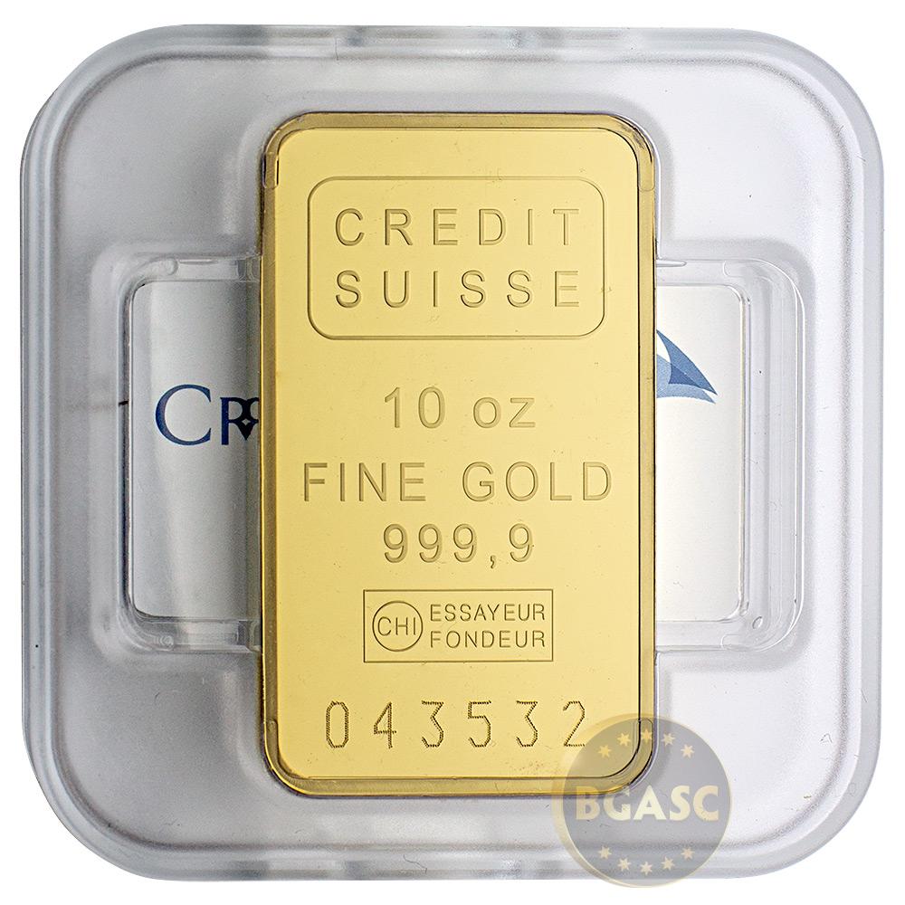 10 Oz Gold Bar Credit Suisse 9999