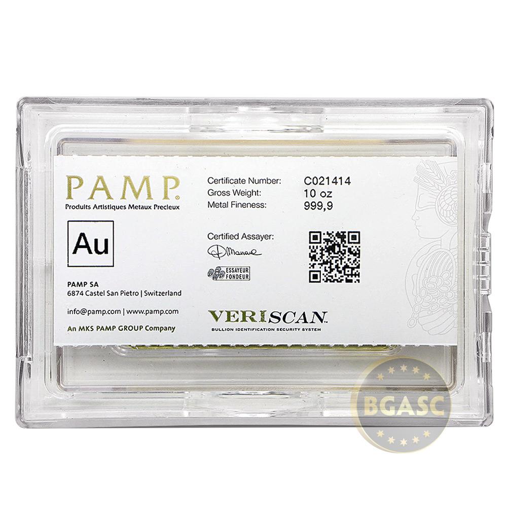 Buy 10 Oz Gold Bar Pamp Suisse Fortuna W Veriscan 9999