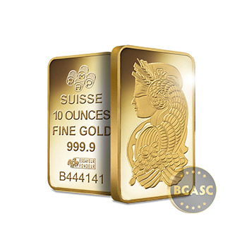 10 oz Pamp Suisse Fortuna Gold Bullion Sealed Bar Swiss with Assay .9999 Fine 24kt Gold - Image