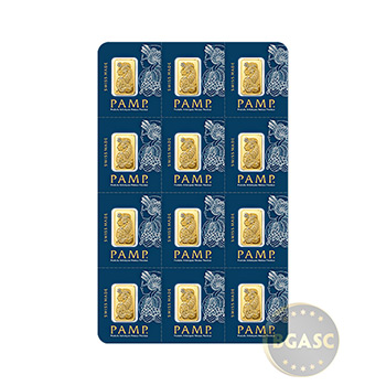MULTIGRAM+12 1 gram Gold Bars Pamp Suisse Fortuna with VERISCAN .9999 Fine 24kt (in Assay)