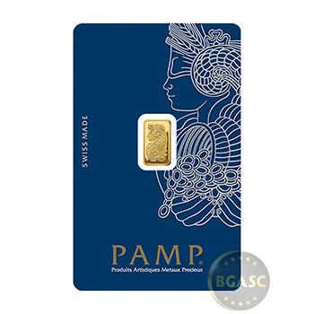 1 gram Gold Bar Pamp Suisse Fortuna with VERISCAN .9999 Fine 24kt (in Assay)