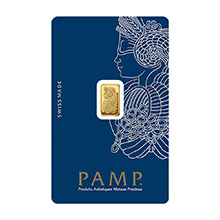 1 gram Gold Bar Pamp Suisse Fortuna with VERISCAN .9999 Fine 24kt (in Assay)