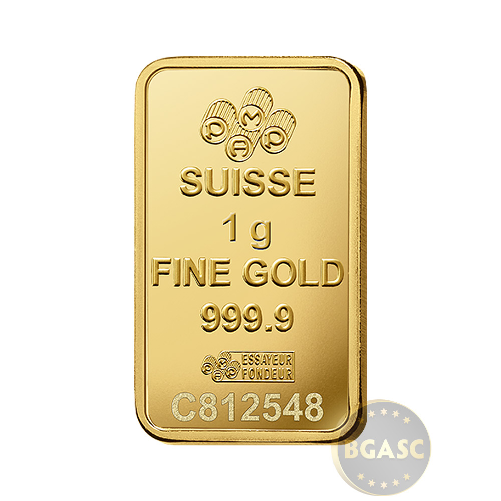Buy 1 Gram Gold Bar Pamp Suisse Fortuna With Veriscan