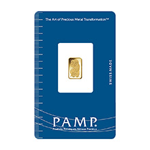 1 gram Gold Bar Pamp Suisse Fortuna .9999 Fine 24kt Version 1 (in Assay)