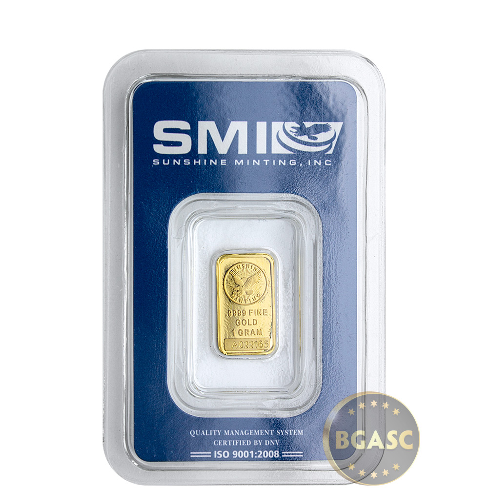 Buy 1 Gram Gold Bar Sunshine Minting 9999 Fine 24kt In
