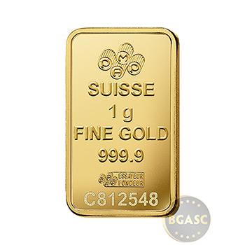 1 gram Gold Bar Pamp Suisse Fortuna .9999 Fine 24kt in Assay 25-Pack - Image