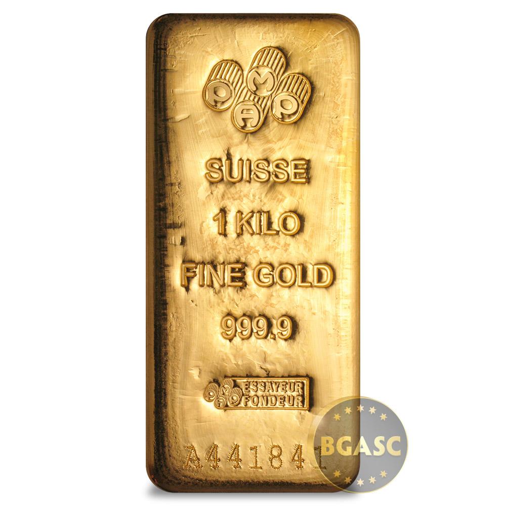 1 Kilo Gold Bar Pamp Suisse Cast 9999 Fine 24kt 32 15 Troy Ounces W Ay Secondary Market