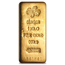 1 Kilo Gold Bar Pamp Suisse Cast .9999 Fine 24kt 32.15 Troy Ounces (w/ Assay) - Secondary Market