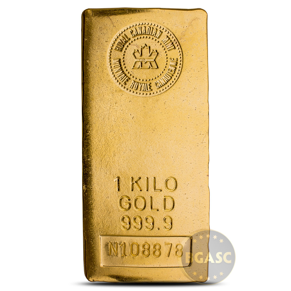 1 Kilo Gold Bar Royal Canadian Mint 9999 Fine 24kt 32 15 Troy Ounces Image