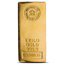 1 Kilo Gold Bar Royal Canadian Mint .9999 Fine 24kt 32.15 Troy Ounces - Secondary Market
