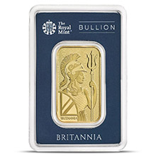 1 oz Gold Bar Royal Mint Britannia .9999 Fine 24kt (in Assay)