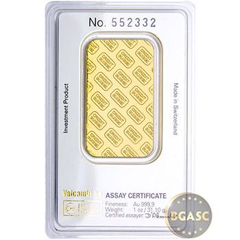 1 oz Gold Bar Credit Suisse .9999 Fine 24kt in Assay - Image