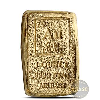 1 oz Gold Bar MK BarZ Hand Poured .9999 Fine 24kt Ingot (w/ COA)