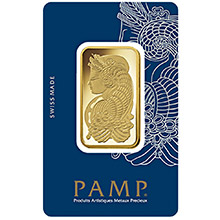 1 oz Gold Bar Pamp Suisse Fortuna with VERISCAN .9999 Fine 24kt (in Assay)