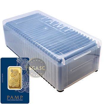 Pamp Suisse 1 oz Gold Bullion Sealed Bar Swiss w/ Assay .9999 Fine 24kt Gold - Image