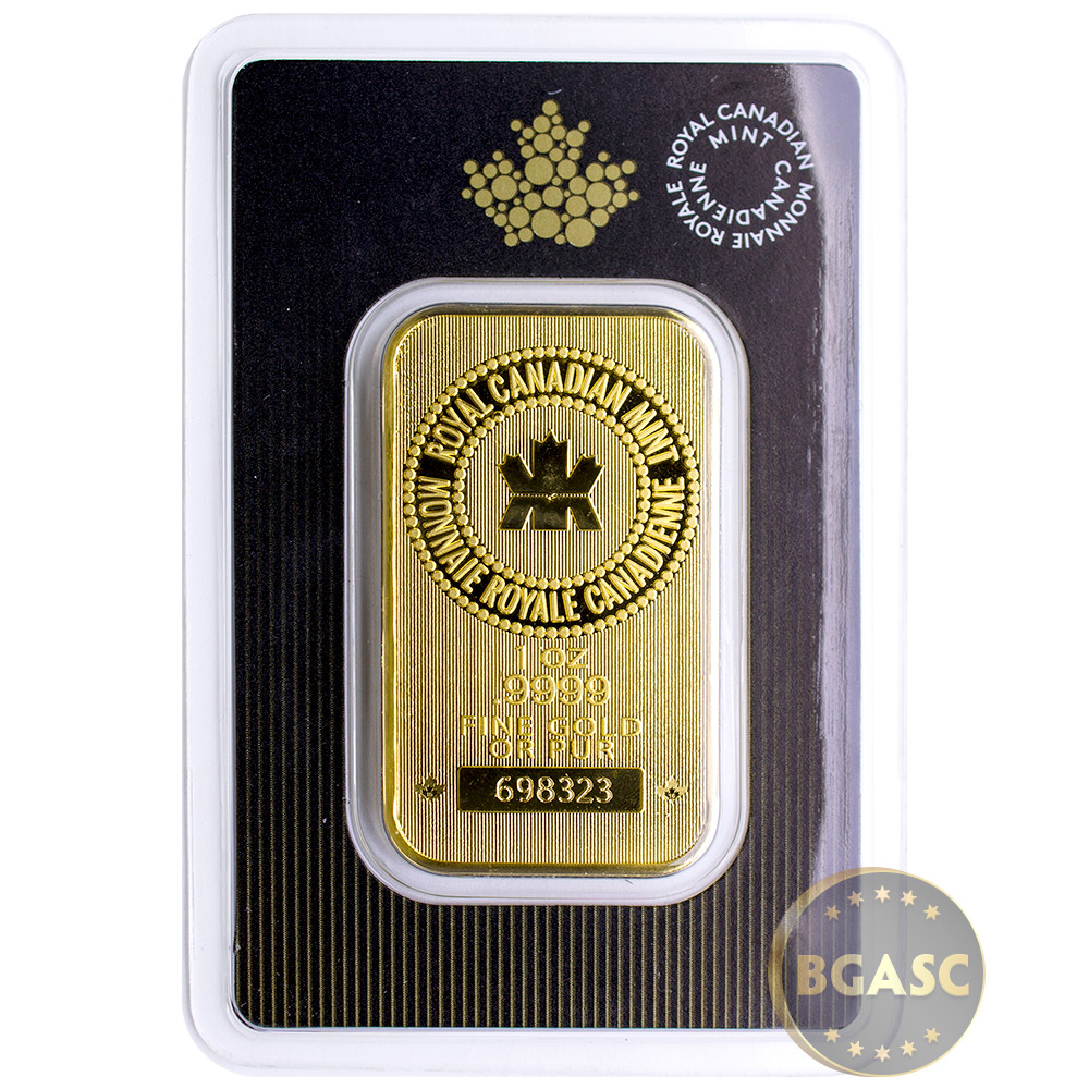 Buy 1 Oz Gold Bar Royal Canadian Mint 9999 Fine 24kt