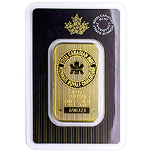 1 oz Gold Bar Royal Canadian Mint .9999 Fine 24kt Wafer (in Assay)
