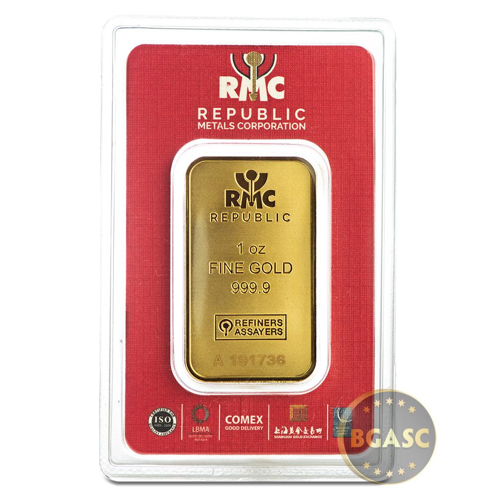 Buy 1 Oz Gold Bar Republic Metals Rmc 9999 Fine 24kt
