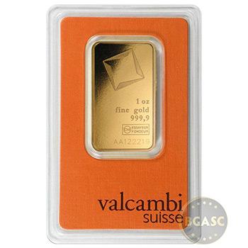 1 oz Gold Bar Valcambi Suisse .9999 Fine 24kt (in Assay)