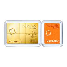 1 oz Gold Bar Valcambi 10 x 1/10 oz CombiBar™ .9999 Fine 24kt (In Assay)