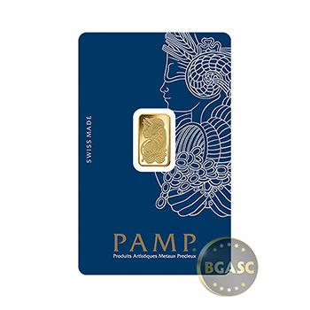 2.5 gram Gold Bar Pamp Suisse Fortuna with VERISCAN .9999 Fine 24kt (in Assay)