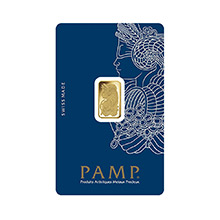 2.5 gram Gold Bar Pamp Suisse Fortuna with VERISCAN .9999 Fine 24kt (in Assay)