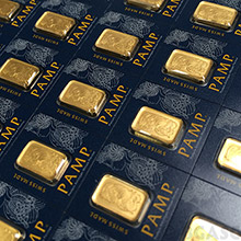 MULTIGRAM+25 x 1 gram Gold Bars Pamp Suisse Fortuna with VERISCAN .9999 Fine 24kt in Assay (25-Pack in PAMP Box)
