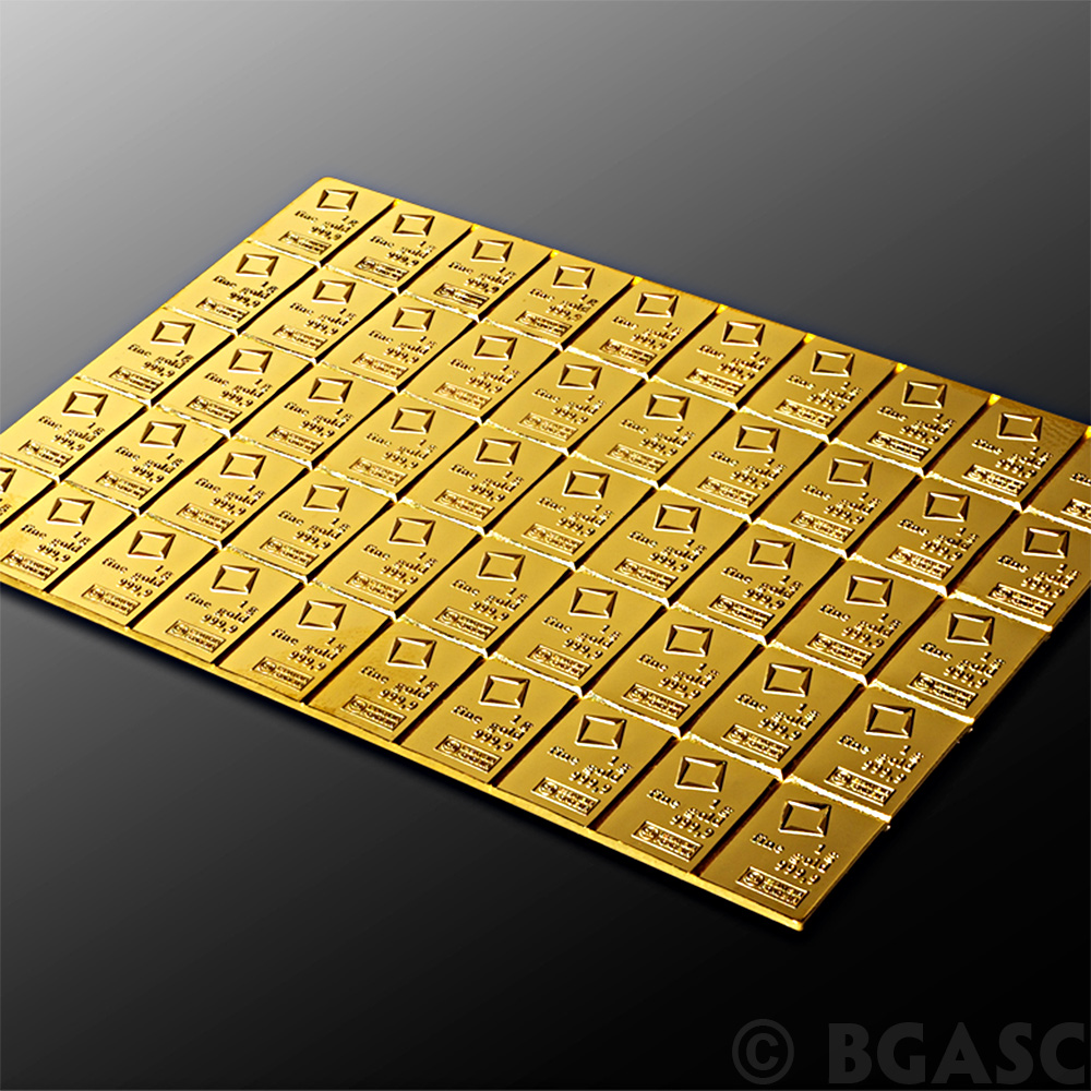 Buy 50 Gram Gold Bar Valcambi Combibar 9999 Fine 24kt