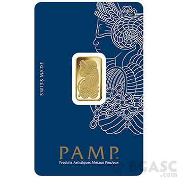 5 gram Gold Bar Pamp Suisse Fortuna with VERISCAN .9999 Fine 24kt (in Assay)