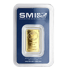 5 gram Gold Bar Sunshine Minting .9999 Fine 24kt (in Assay)